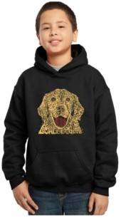 La Pop Art Boy's Word Art Hoodies - Dog