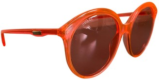 Gucci Orange Plastic Sunglasses