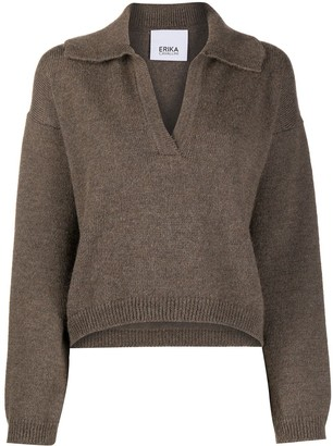 Erika Cavallini Spread Collar Knitted Jumper