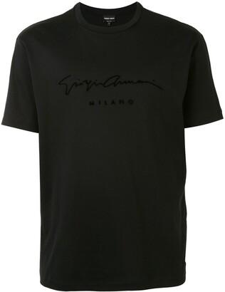 Giorgio Armani velvet-logo T-shirt