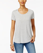 Style&Co. Style & Co Scoop-Neck T-Shirt, Only at Macy's