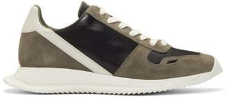 Rick Owens Brown and Black Vintage Runner Sneakers