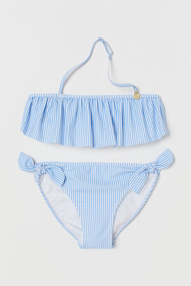 H&M Patterned Ruffled Bikini