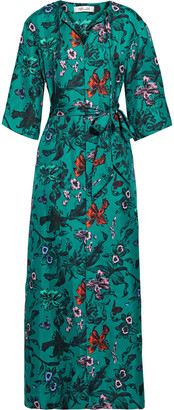 Diane von Furstenberg Caris Belted Floral-print Silk-twill Maxi Dress