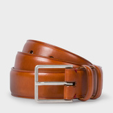 Paul Smith Men's Tan Leather Double Keeper Classic Suit Belt