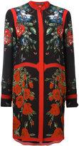 Alexander McQueen floral tablecloth tunic dress - women - Silk - 42