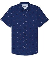 Thumbnail for your product : Izod Men's Big & Tall Big Breeze Short Sleeve Button Down Patterned Shirt