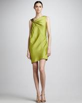 Bead-Shoulder Cocktail Dress