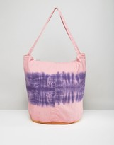 Asos BEACH Tie Dye Canvas Shopper Bag