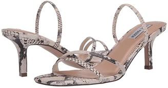 Steve Madden Loft Heeled Sandal (Beige Snake) Women's Shoes