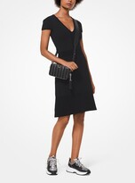 MICHAEL Michael Kors Stretch Knit V-Neck Dress