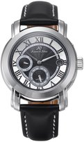 K&S KS Men's Luxury Day Date Display Analog Automatic Mechanical Black Leather Band Wrist Watch KS276