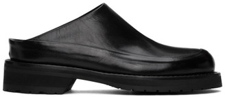 Ann Demeulemeester Black Leather Moresco Loafers