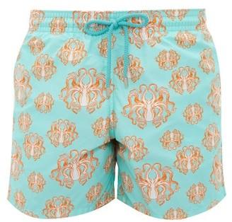 Vilebrequin Moorea Octopus Print Swim Shorts - Mens - Green Multi