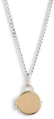 Loren Stewart Mixed Metal Locket Pendant Necklace