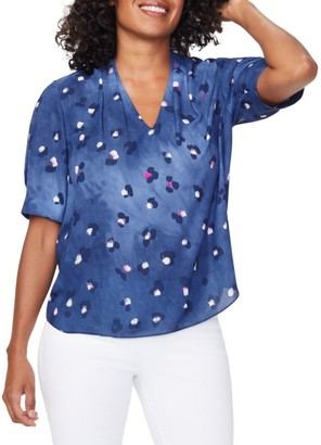 NYDJ Charming Abstract Floral Top