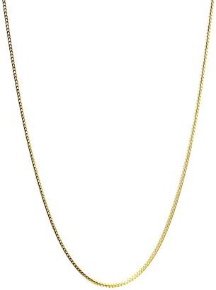 Savvy Cie 18K Gold Vermeil Franco Box Chain Necklace