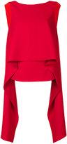 Givenchy draped panel sleeveless top - women - Silk/Spandex/Elastane/Acetate/Viscose - 36