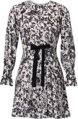 Jason Wu Floral-Print Long-Sleeved Short Dress