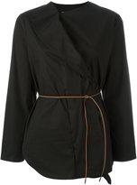Fabiana Filippi belted wrap shirt - women - Cotton/Spandex/Elastane - 42