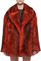 Tom Ford Oversized Bicolor Fox Fur Coat