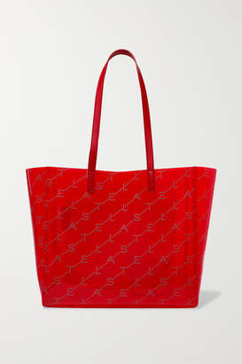 Stella McCartney Faux Leather-trimmed Printed Pu Tote - Red
