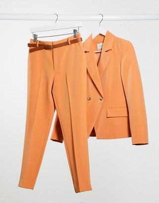 Stradivarius tailored trousers in orange