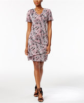 Connected Printed Tiered Shift Dress