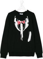 Moschino Kids tux print sweatshirt
