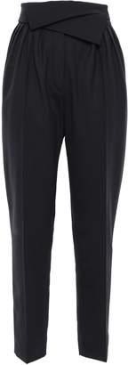 Nina Ricci Fold-over Twill Tapered Pants