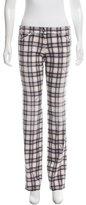 Roberto Cavalli Plaid Print Straight-Leg Jeans w/ Tags