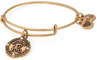 Alex and Ani Because I Love you III Expandable Wire Bangle Bracelet