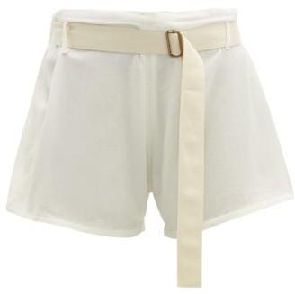 ALBUS LUMEN Traveller Mid-rise Belted Cotton Shorts - Ivory