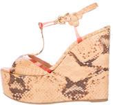 Sergio Rossi Platform Wedge Sandals