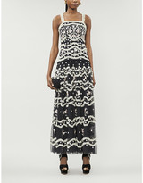 Selfridges Needle And Thread Tulle Bloom floral-embroidered dress