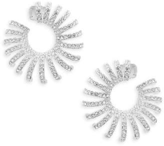 Adriana Orsini Sterling Silver & Swarovski Crystal Hoop Earrings