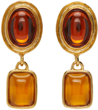 MONDO MONDO Brown Jelly Earrings