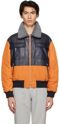 Rassvet Orange Puff Aviator Bomber Jacket