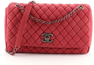 Chanel New Bubble Flap Bag Quilted Iridescent Calfskin Large