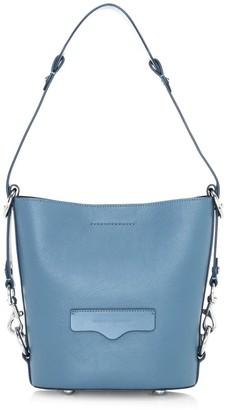 Rebecca Minkoff Small Utility Convertible Leather Bucket Bag