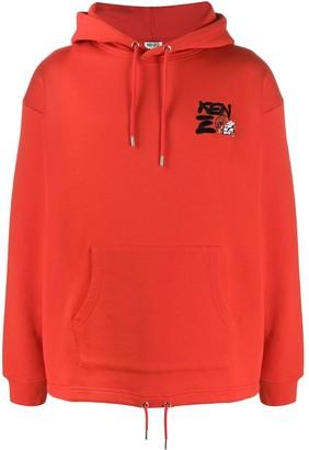 Kenzo Logo-Embroidered Hooded Sweatshirt