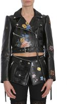 Alexander McQueen Embroidered Zipped Biker Jacket