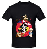 Freddy Printed Short Sleeve character LT Looney Tunes Round Neck Mens Tshirt