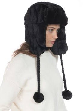 INC International Concepts Inc Embossed Faux-Fur Trapper Hat, Created for Macy's