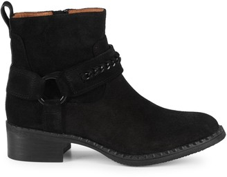 Gentle Souls Suede Stack-Heel Booties