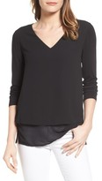 MICHAEL Michael Kors Women's Mixed Media Top