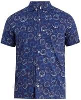 Glanshirt Jake geometric-print short-sleeved cotton shirt