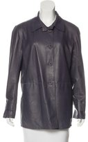 Fratelli Rossetti Leather Button-Up Jacket