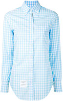 Thom Browne gingham and floral-print shirt - women - Cotton - 38