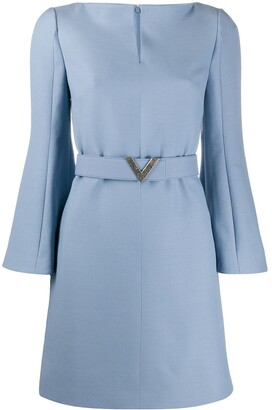 Valentino V belted dress